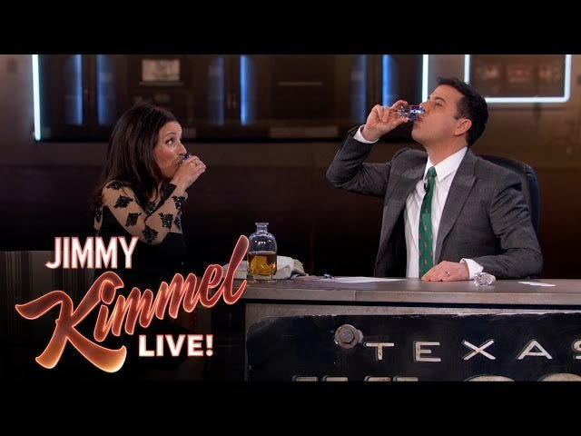WatchJulia Louis-Dreyfus Do Shots With Jimmy Kimmel