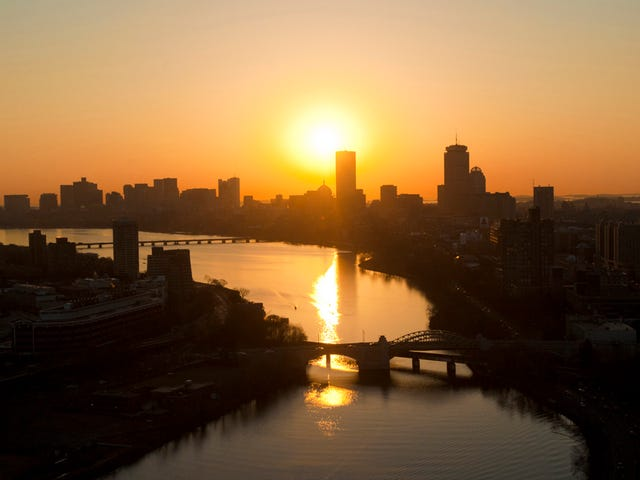 Only four more hours until sunrise in Boston