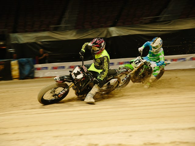 Behold The Controlled Chaos That Is Flat Track Motorcycle Racing