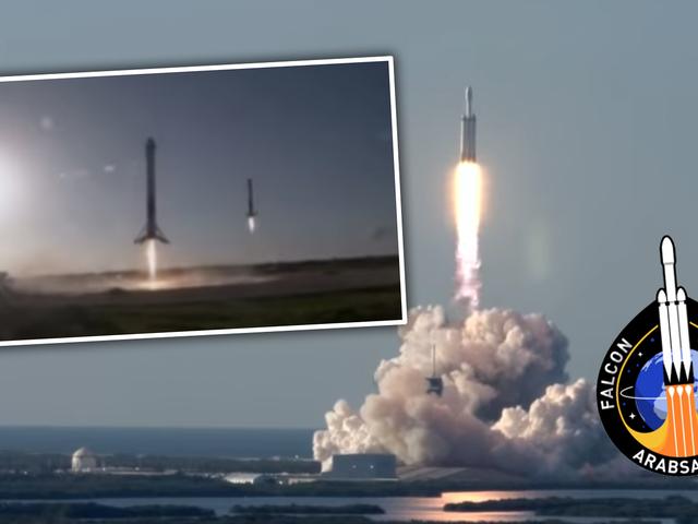 SpaceX землі три Falcon важких ракетних прискорювачів після одного запуску