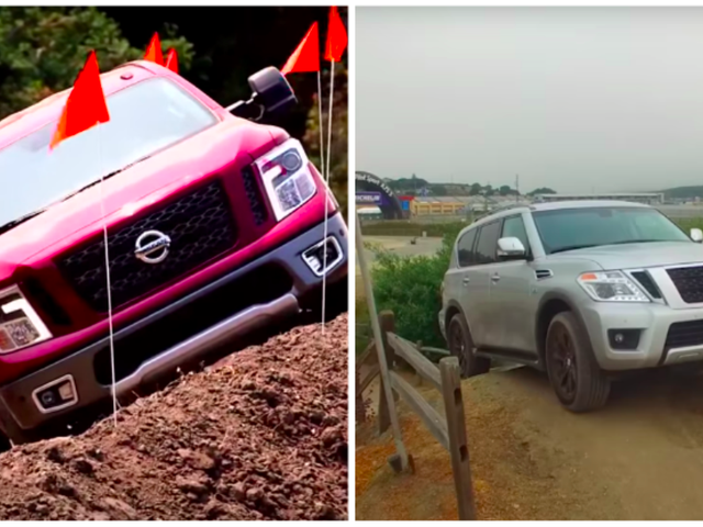 Here's What Happens When The 2017 Nissan Titan And Armada Attempt To Off-Road