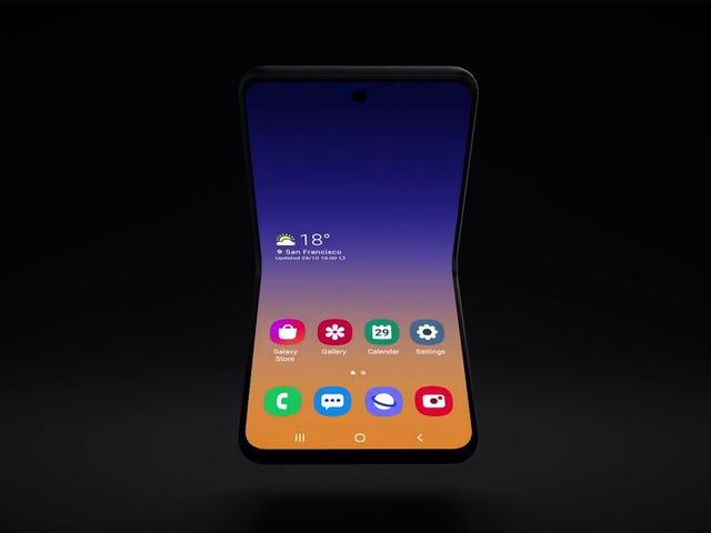Samsung hiển thị bản xem trước những gì có thể là điện thoại gập tiếp theo của bạn