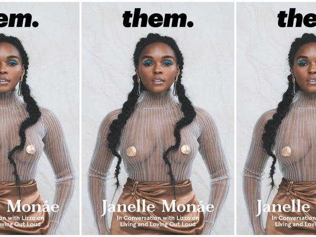 'To Be Young, Queer, and Black': Janelle Monae Gets Revealing with Lizzo for Them.