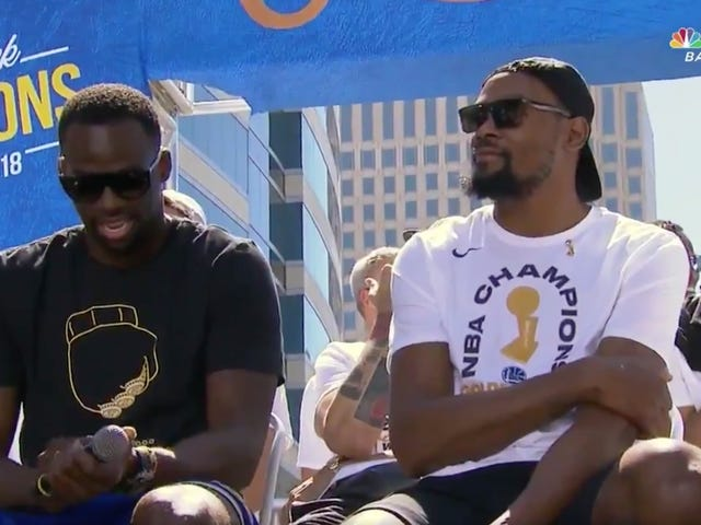 Draymond Green Has Once Again Mocked LeBron James With His Championship Parade T-Shirt