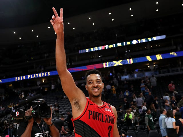 C.J. McCollum's Older Brother Is The Blazers' Best Hype Man