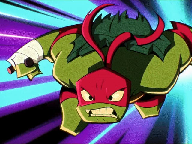 <i>Rise of the Teenage Mutant Ninja Turtles</i> &#39;Riff på Classic Cartoon Theme är ganska kul