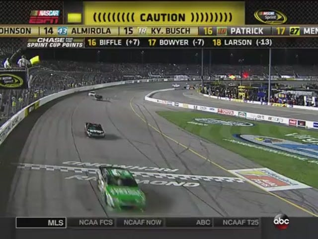 NASCAR Race Goes Yellow Due To Idiot On The Catch Fence