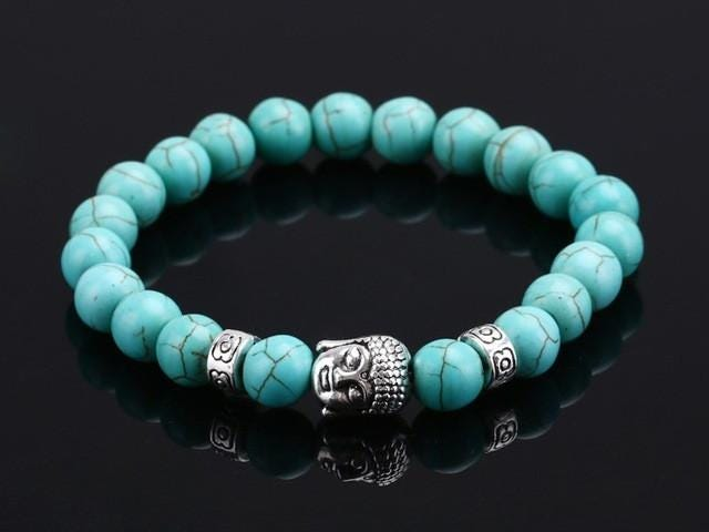 Today's Deals on Natural Stone Bead Buddha Bracelets For Women and Men
