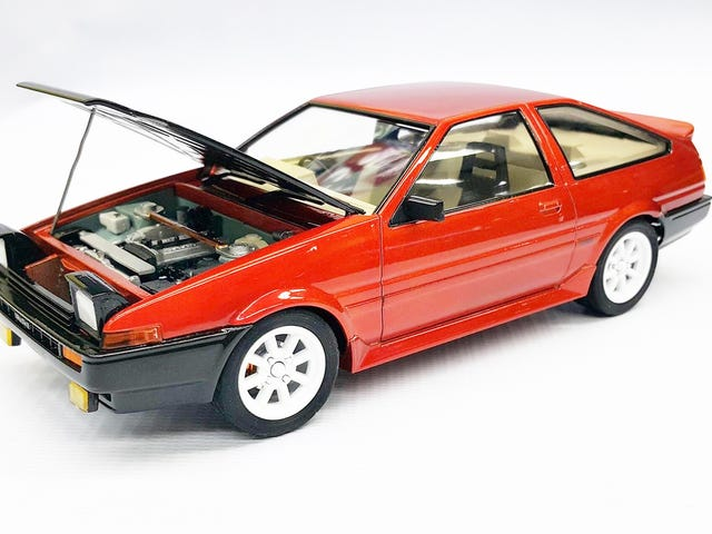 My 1/24 Toyota Ae86 Model Kit