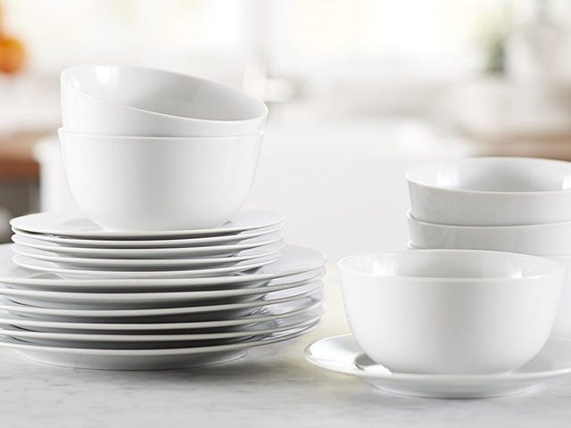 Set The Table With This Discounted AmazonBasics Dinnerware Set