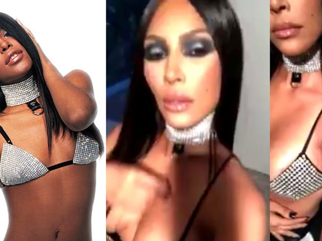 Black Twitter Is Dragging Kim Kardashian for Dressing as Aaliyah for Halloween, but Is It Cultural Appropriation?