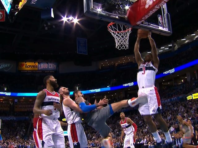 Steven Adams Offers Bradley Beal Swift Kick To The Dick And Balls