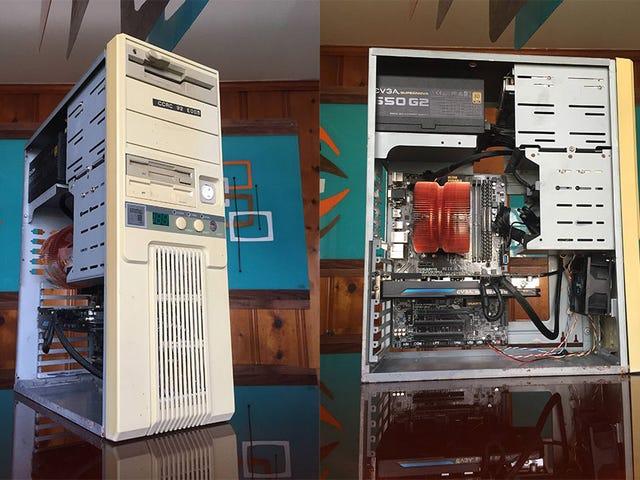 Una PC moderna para juegos dentro de una vieja carcasa 386