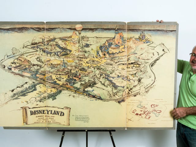 Walt Disney's Hand-Drawn Map of Disneyland Just Sold for a Bonkers Price