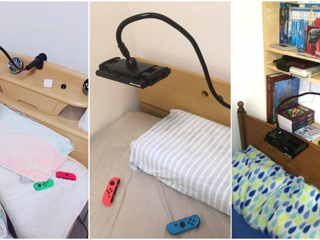 La mejor manera de Jugar med La Nintendo Switch och la cama