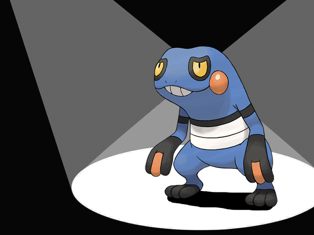 Croagunk Will Stab You With His Poison Fingers