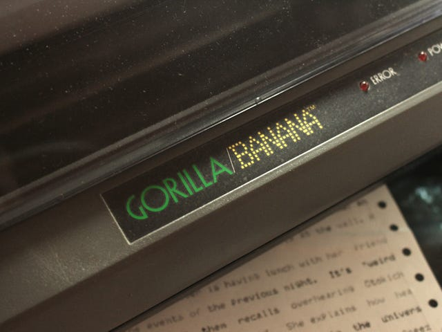 you'll never beat my *squints eyes* Gorilla Banana printer.