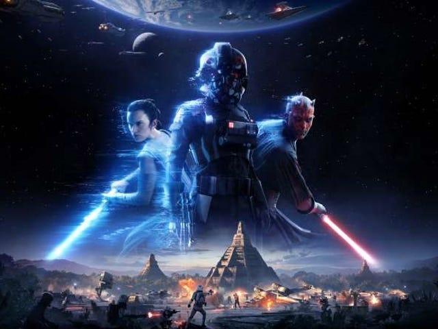 El multijugador de <i>Star Wars: Battlefront II</i> personene i verden, og inkluderer en Rey og Darth Maul