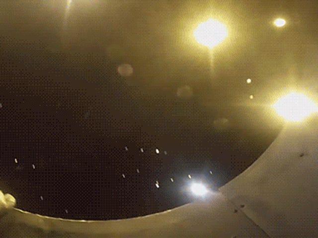 Esto es lo que las balas de cañón humanos ven cuando se lanzan.