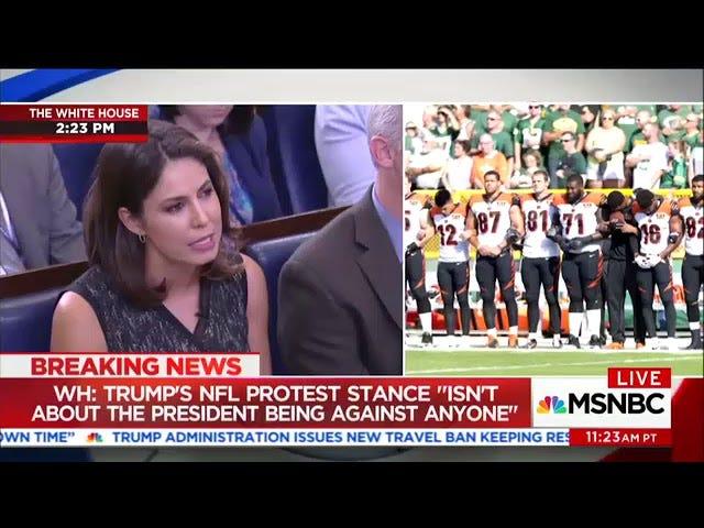 Sarah Huckabee Sanders denkt niet dat de NFL-protesten over racen over racen gaan