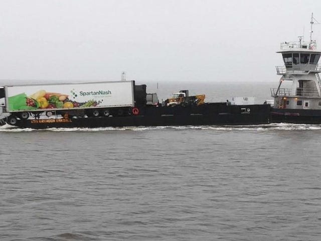 Truck Interrupts Boat Ride to Take a Drink of Ocean Water