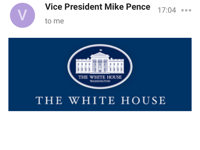 Did anyone else just get an email from the VP??