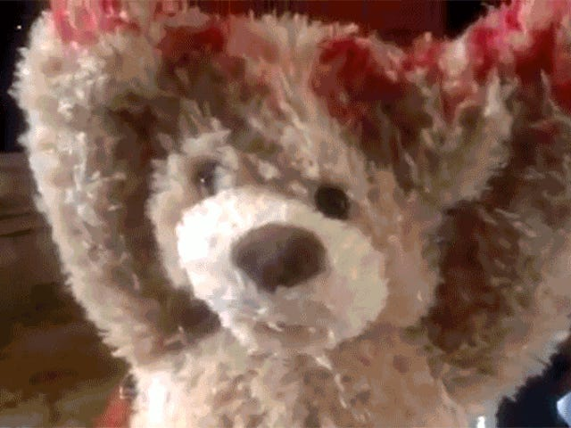 Happy Valentine's Day, Here's a Terrifying Teddy Bear That Tears Its Own Face Off
