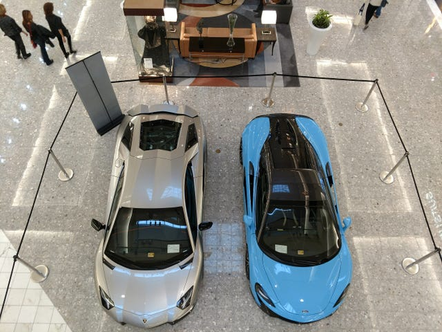 Cars at malls