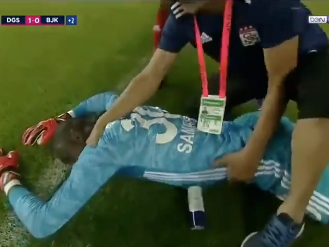 Turkish League Goalkeeper Collapses After Rough Collision With Beşiktaş' Tyler Boyd