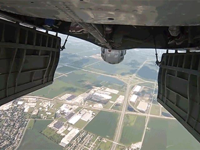 World War II Bomber Drops Human Munitions Over Chicago