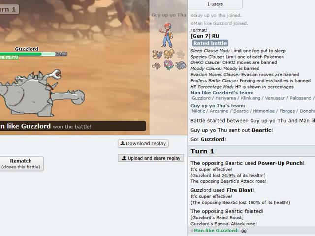 Et fan-made browserspil er Pro Pokémon Players 'hemmelige våben