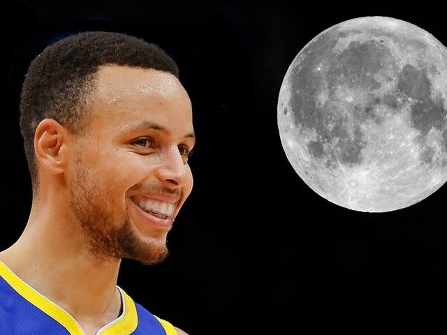 Steph Curry NÃO é um Teórico da Conspiração da Landing da Lua, OK?