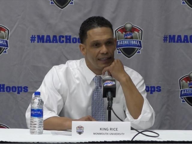L'entraîneur de Monmouth, King Rice, réclame des règles absurdes du MAAC qui l'ont empêché d'amener son fils de 7 ans à la conférence de presse d'après-match