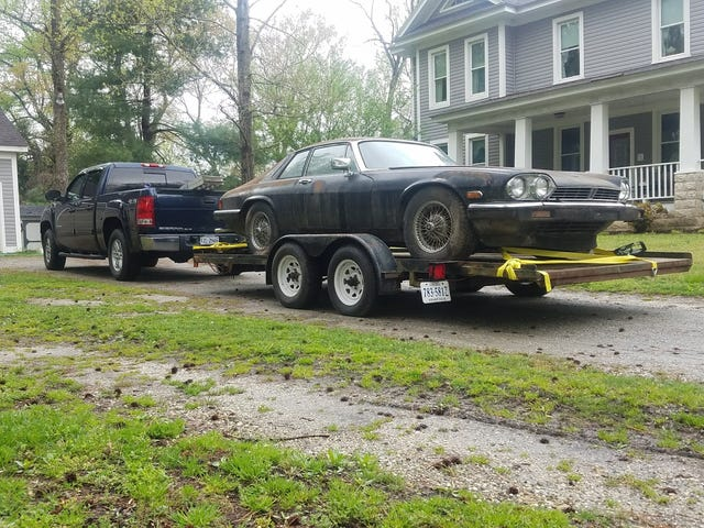 The XJS I bought weeks ago has finally made it home