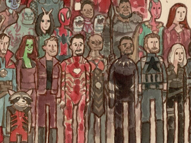The Gang's All Here in This Epic Avengers: Infinity War Art