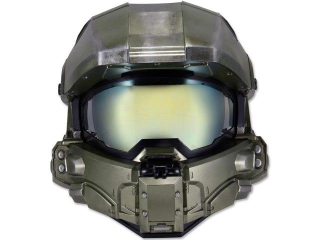 Una gran ide: El casco para moto del Master Chief de <i>Halo</i>