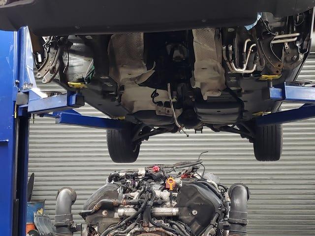 The Touareg V10 fix up begins