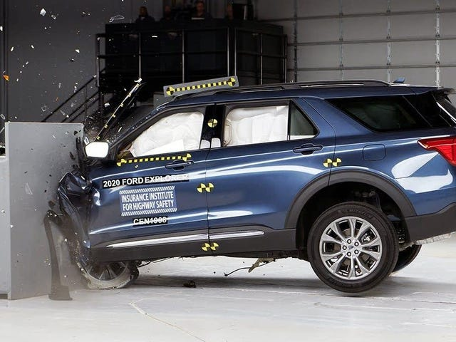 2020 Ford Explorer's Crashworthiness Not Improved Enough For IIHS