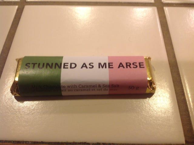 It's a good thing this gift is tasty or I'd be offended