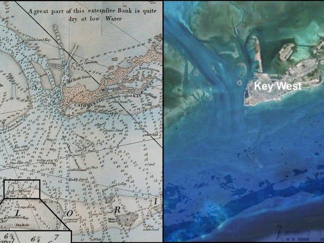 Los mapas náuticos de 240 años revelan lo mal que hemos arruinado los arrecifes de Florida