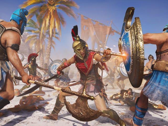 Jogadores do Assassin's Creed Odyssey estão criando missões personalizadas para subir de nível sem fazer nada