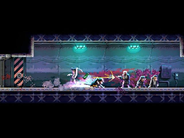 Um jogo de ninja Cyberpunk onde você manipula o tempo