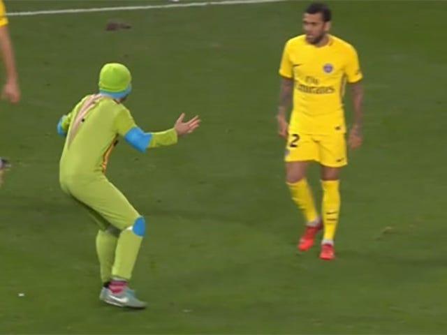 Grown Men Dressed As Ninja Turtles Interrupt European Soccer Game