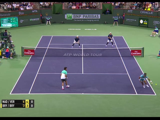 Get A Load Of This Spatially Ambitious Rafael Nadal Shot