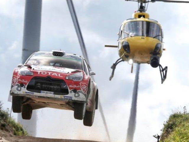 Кто летает лучше, вертолет или водитель Citroën of World Rally Championship Крис Мик и другие