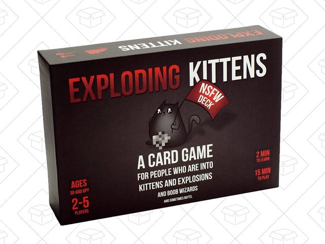 Grab A Rare Discount on Exploding Kittens: NSFW Edition