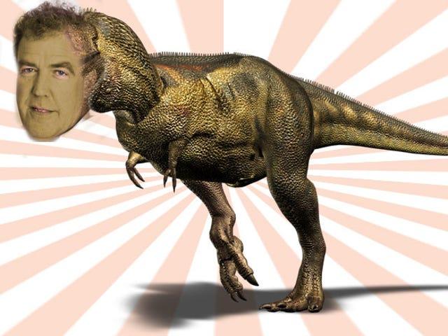 Ο Τζέρεμι Κλάρκσον υπογραμμίζει τον θάνατο του <i>Top Gear</i> με τις μεταφορές των δεινοσαύρων