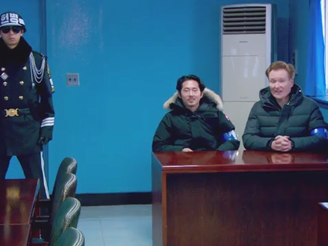 Watch Conan O'Brien Rag On Korean Soldiers In The Demilitarized Zone
