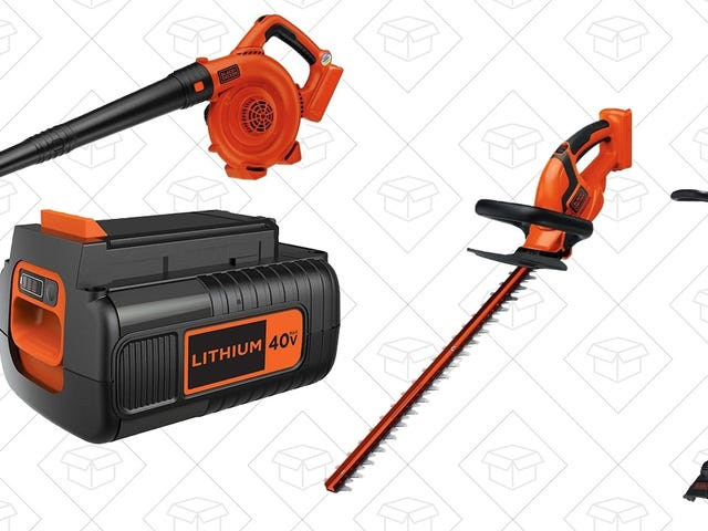Make Your Fall Yard Work Easier With This Black & Decker Gold Box