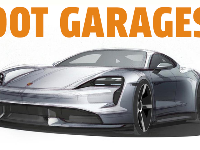 The Porsche Taycan Was Designed With Something Called 'Foot Garages'